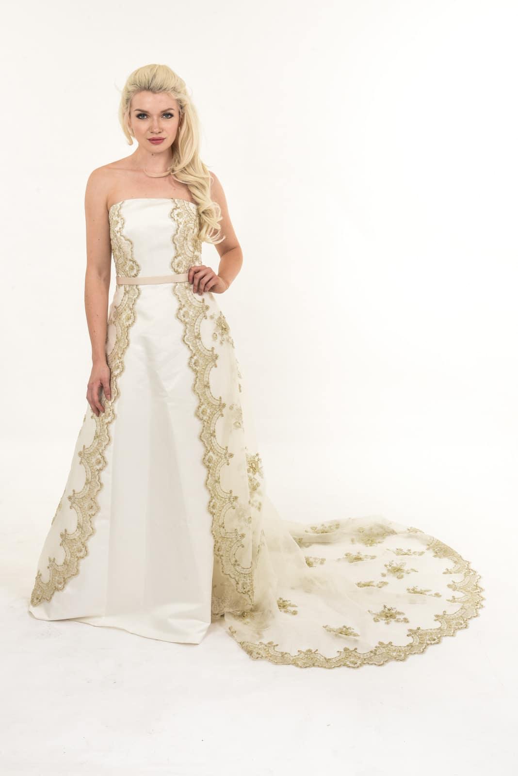 Trelan Bride Wedding Dress In Cream And Gold Dressxchange