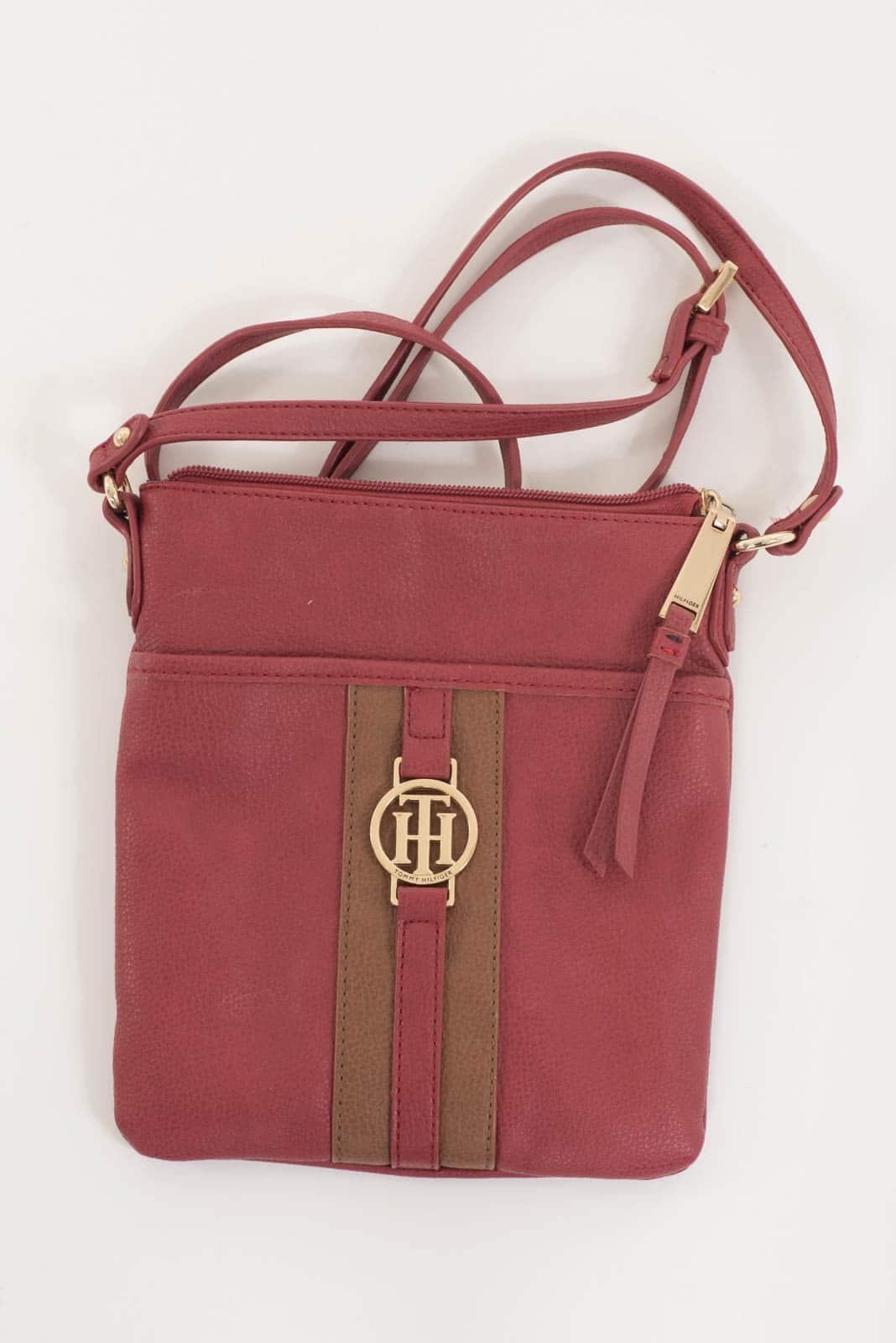 90ddc423db Tommy Hilfiger Red Faux Leather Cross Body Bag - DressXChange
