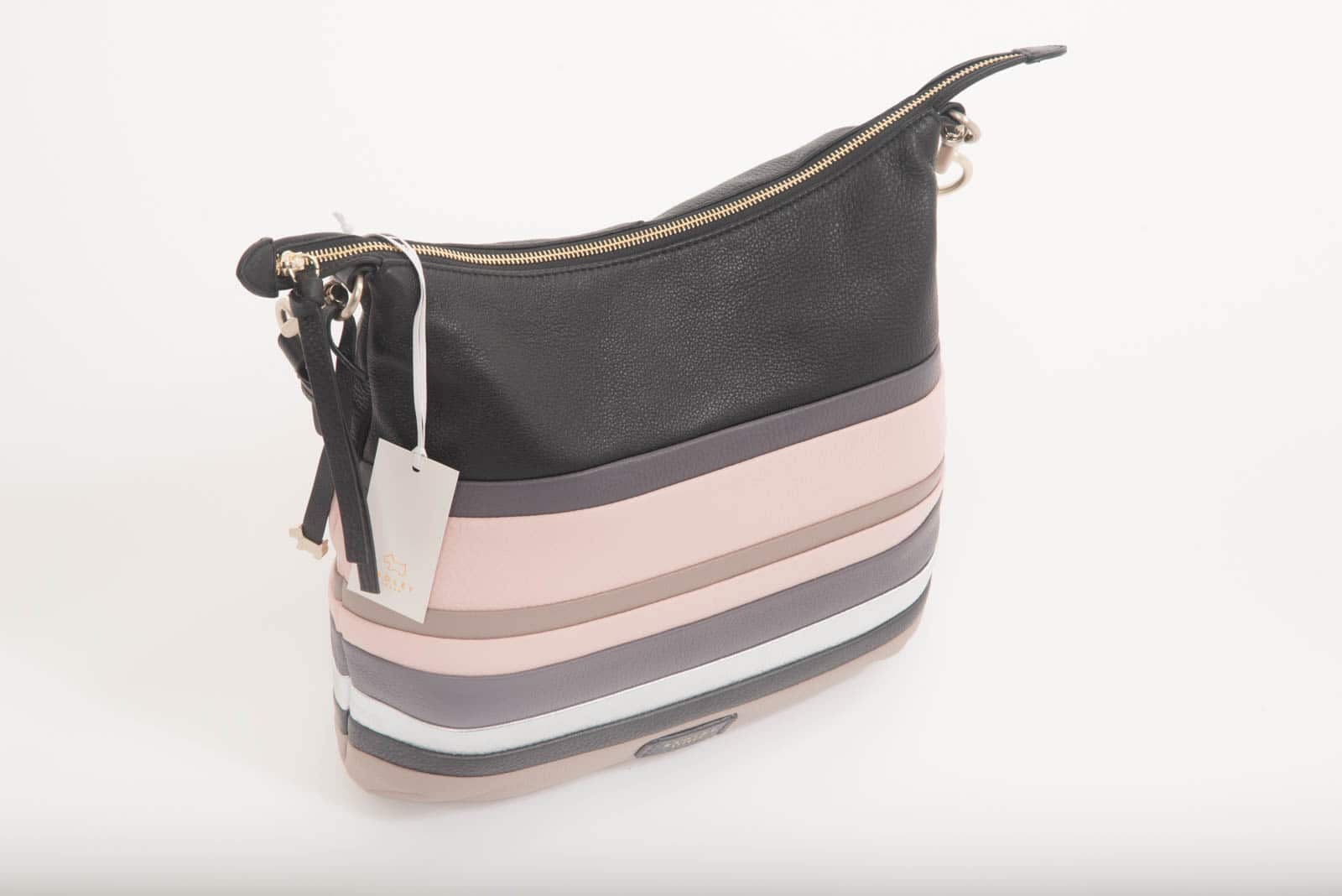 Radley Stripe Leather Feather Court Hobo Bag - DressXChange a635eacbf6fc8